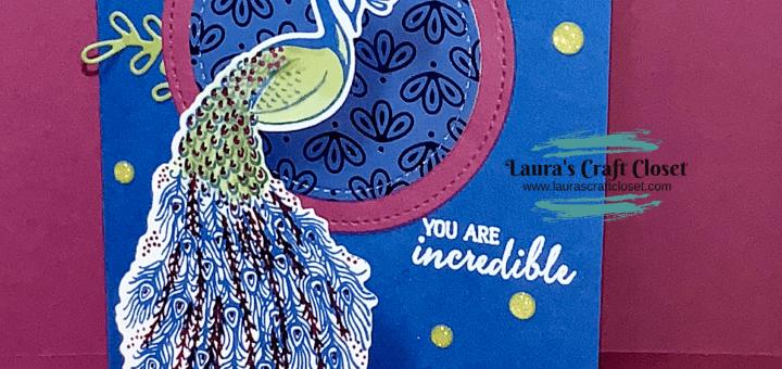 Peacock wobble encouragement card