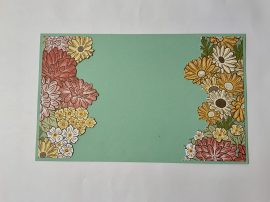 ornate garden vellum card cut flowers step