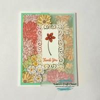 Ornate Garden Tri-Fold Vellum Card