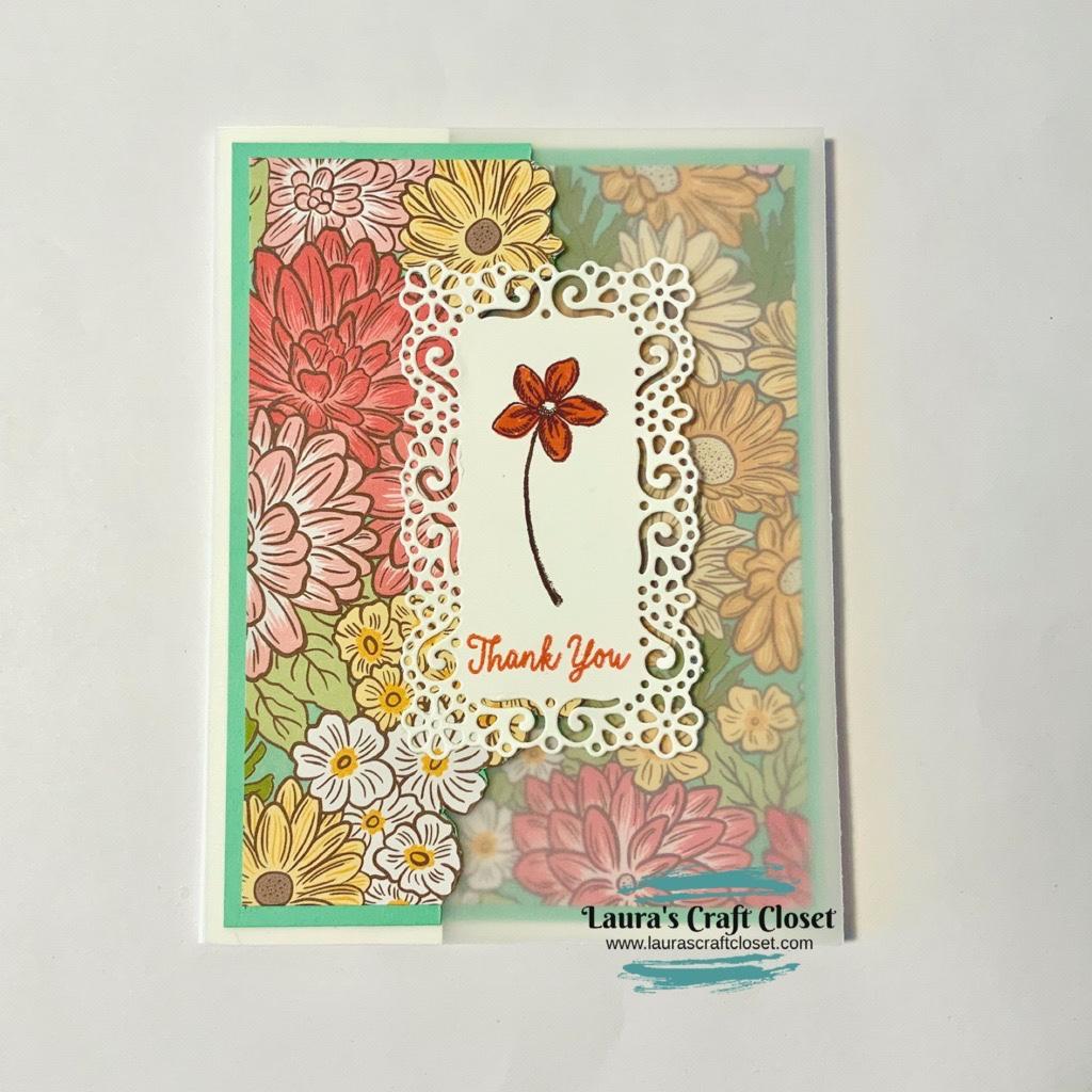 ornate garden vellum card