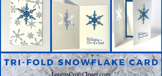 Trifold snowflake friendship card with inlay design