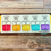 Top Shelf Rainbow Decanters Slimline Card