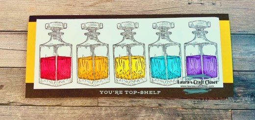whiskey business decanter rainbow slimline card