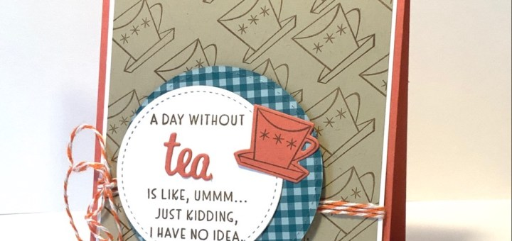 Day without tea card grid technique die cuts