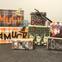DIY Halloween Fall Decor Blocks