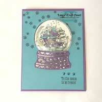 Subtle Snowglobe Shaker Card with Raccoon