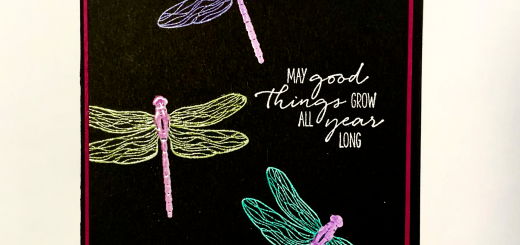 Neon technique dragonfly card how to save money on colored embossing powders