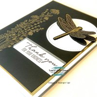 Black and Gold Dragonfly Card