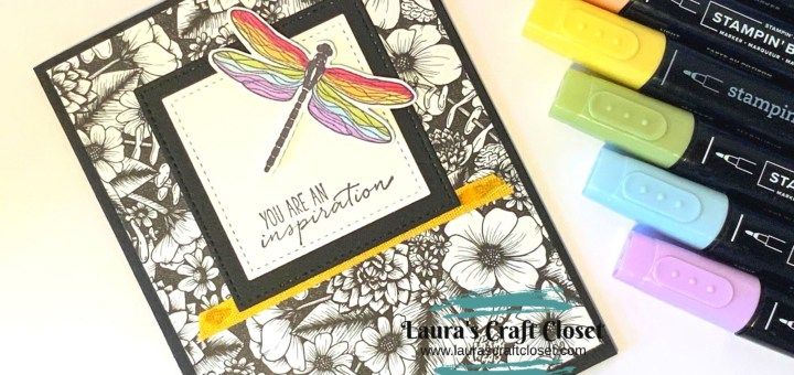 Inspiring rainbow dragonfly card markers