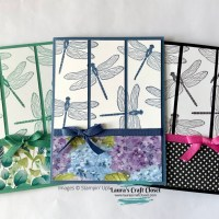 Flight of Dragonflies Card; One Design Three Cards