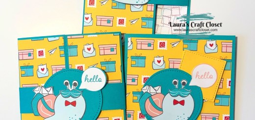 Gatefold Card and matching set Create with DSP Snail Mail