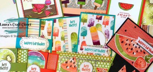 Side Flap Card Create with DSP Ice Cream Corner So Cool Paper Pumpkin projects stack of cards