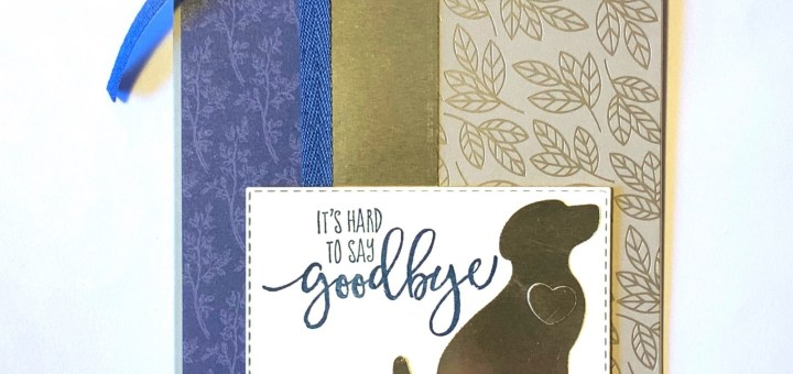 Love you always foil dsp pet sympathy card