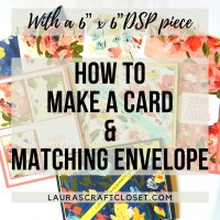 How to Make a Split Card and Matching Envelope