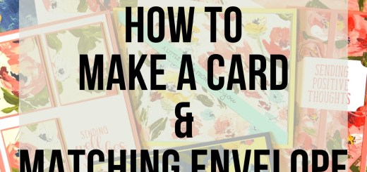 How to make a card with matching envelope fine art floral dsp