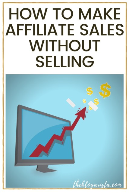 how to make affiliate sales without selling anything text on white background with computer, arrow and dollar sings