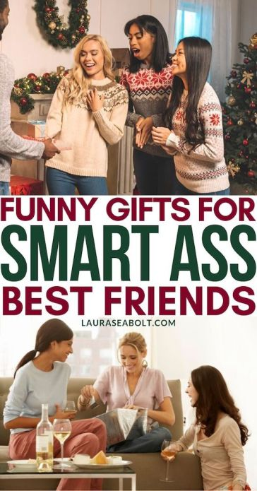 Funny gifts for sarcastic best friends. Pinterest pin