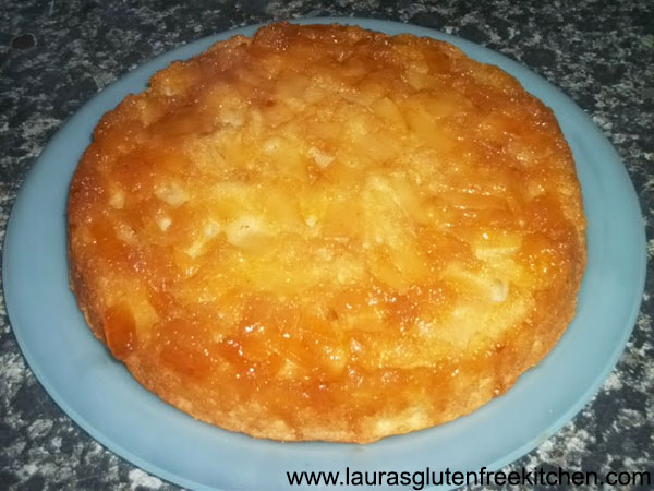 Gluten free Lots of Apple Upside-Down Cake
