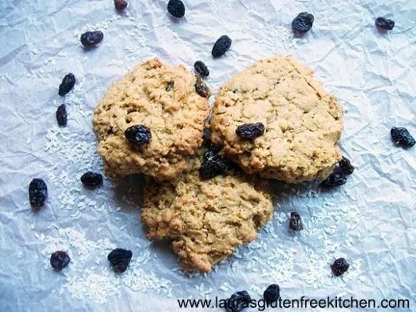 Gluten Free Raisin & Coconut Oatmeal Cookies