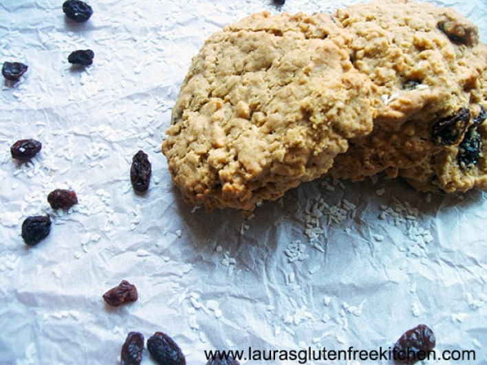 Gluten Free Raisin & Coconut Oatmeal Cookies