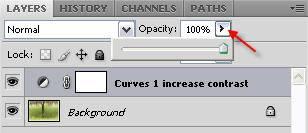 Drop down opacity slider - the slow way