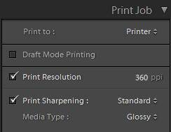 lightroom print resolution and sharpening