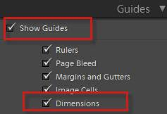 Show Dimensions in Lightroom Print Module Guides