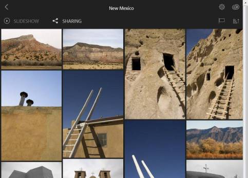 Lightroom web view