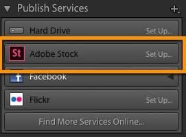 New Adobe Stock Publish Service in Lightroom
