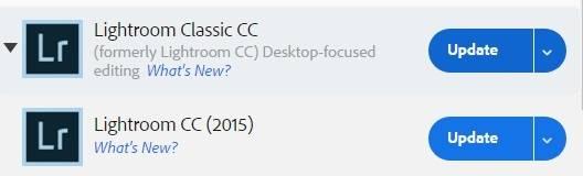 Update to Lightroom Classic or Lightroom CC 2015.13