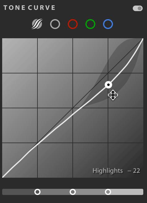 Lightroom CC parametric tone curve