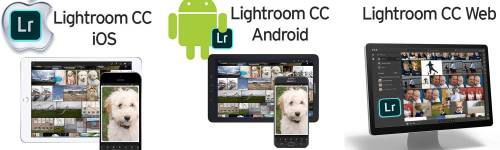 Lightroom CC iOS, Android and Web