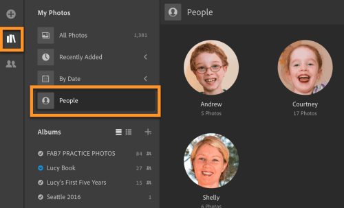 People view in Lightroom CC