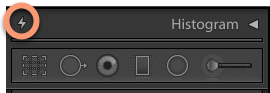 Lightroom Classic Process Version Update - Collapsed Histogram
