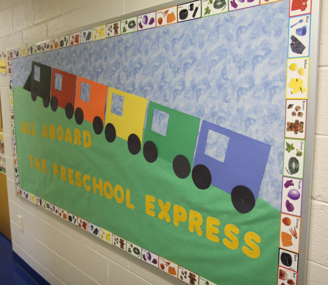 Preschool Train Theme Bulletin Board Ideas