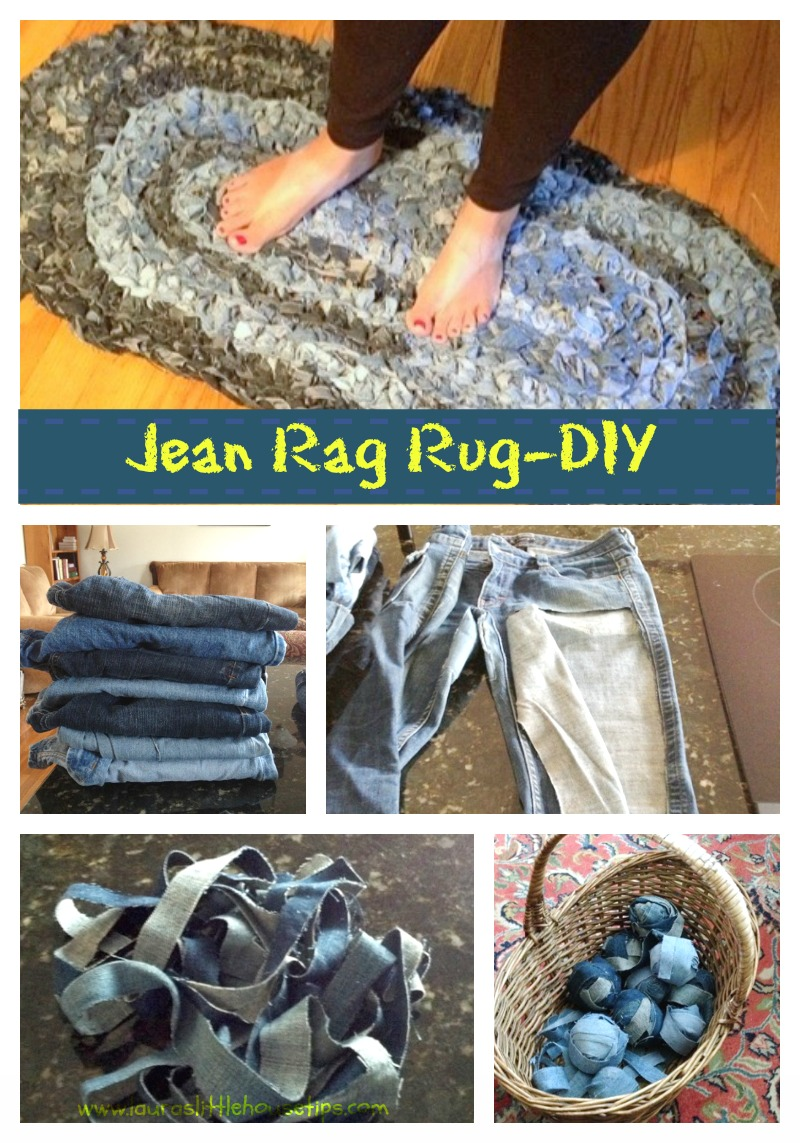 Denim Rug: Give Old Jeans New Life! DIY - Denim Rug: Give Old Jeans New Life!
