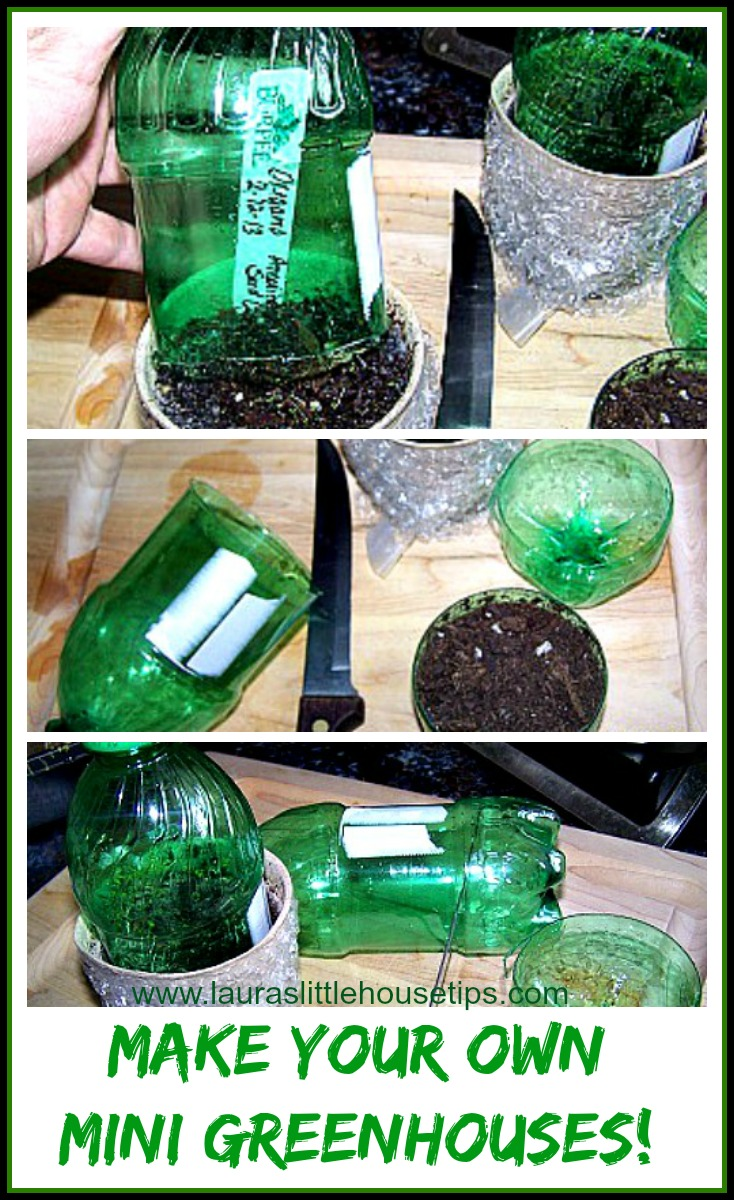 Make your own Mini Greenhouses www.lauraslittlehousetips.com