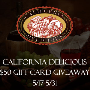 California Delicious $50 Gift Card Giveaway Ends 5/31/14
