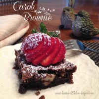 Carob Brownie Recipe - The Most Delicious Brownie Ever!