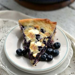 Iron Skillet Blueberry Cobbler