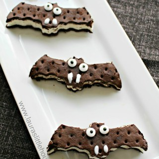 Spooky Ice Cream Sandwich Bats