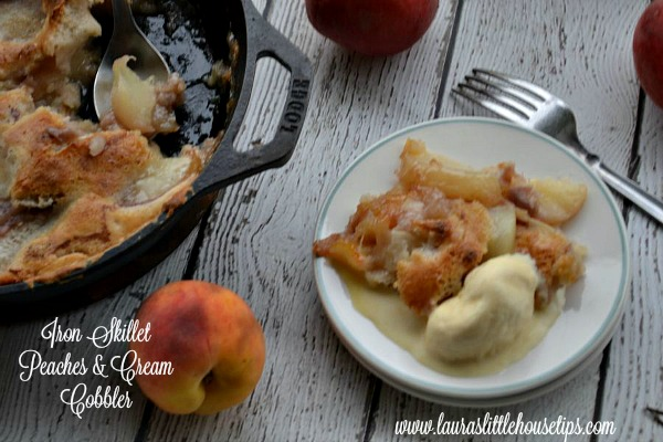 Iron Skillet Peaches & Cream Cobble