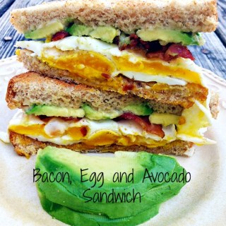 Bacon, Egg and Avocado Sandwich