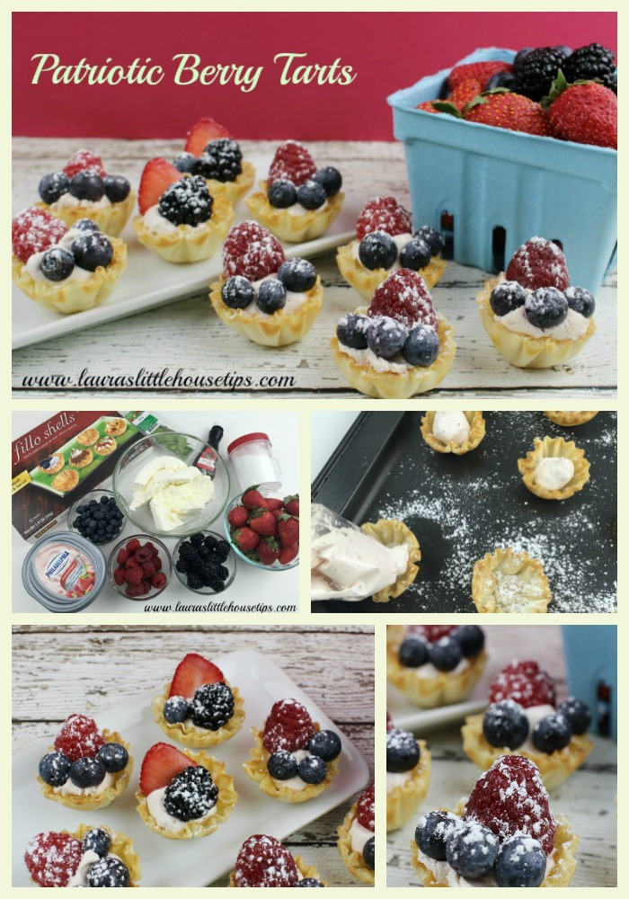Patriotic Berry Tarts Collage