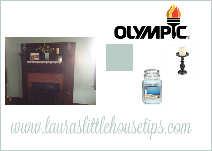 Living Room Makeover with Olympic Paints #BringOnTheColor