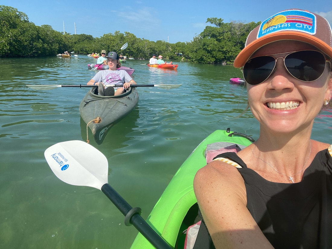 Kayaking on vacation to feel great