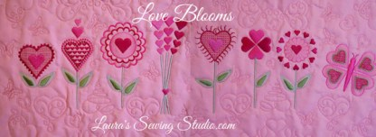 Love Blooms Collage Banner
