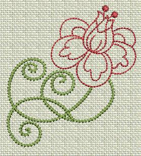 Filigree Flowers No. 1A