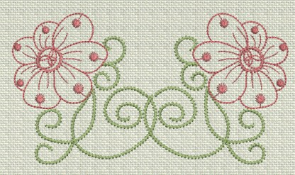 Filigree Flowers No. 10
