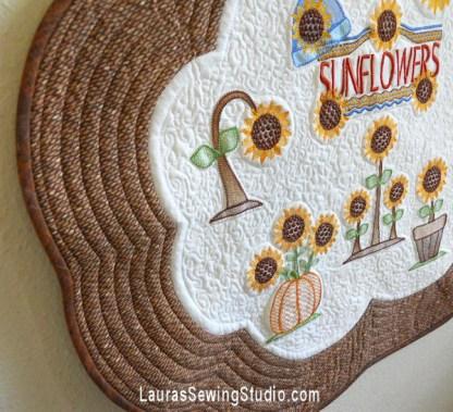 Sunflower Harvest Collage Banner, Close Up #1